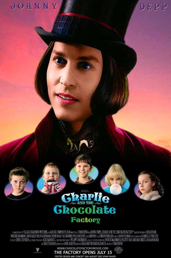 Charlie And The Chocolate Factory Movie Poster