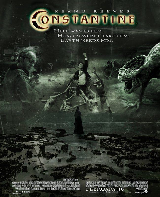 constantine 2005 poster freemoviepostersnet