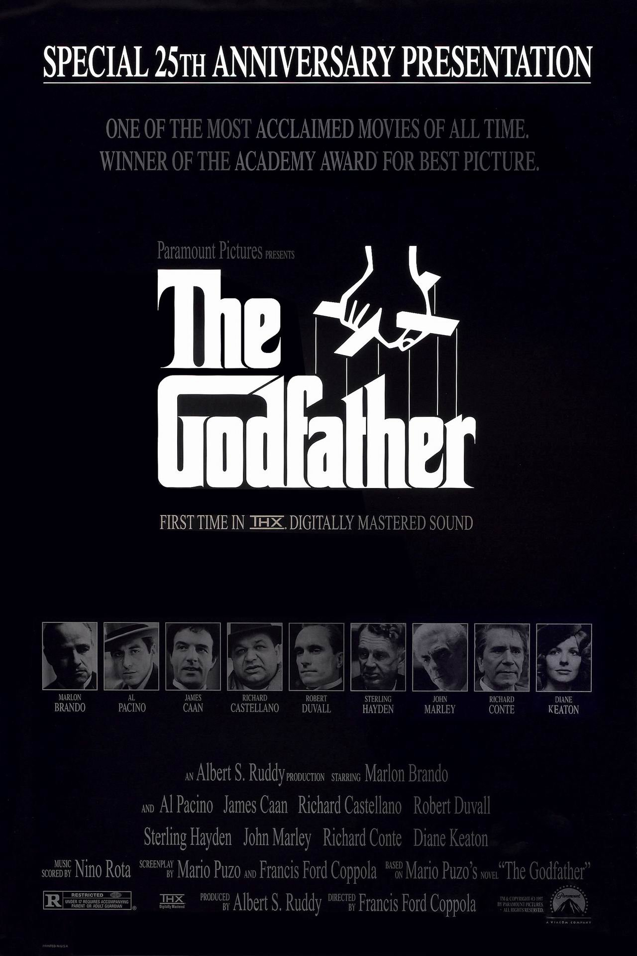 godfather the 1972 poster freemoviepostersnet