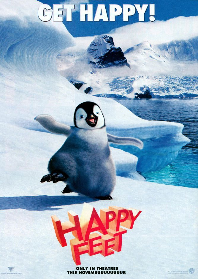 happy feet 2006 poster freemoviepostersnet
