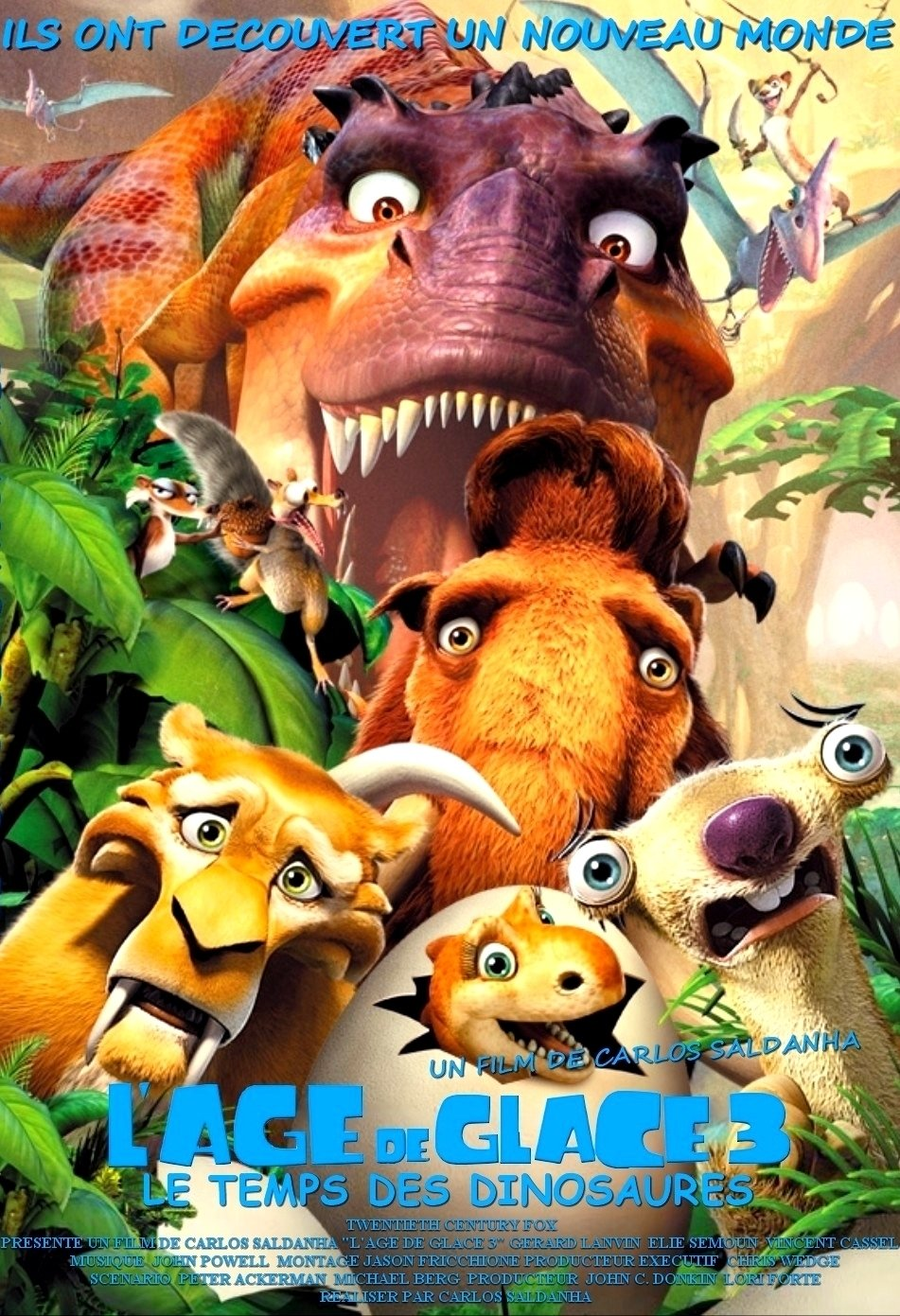 Ice Age Dawn Of The Dinosaurs 2009 Poster Freemovieposters Net