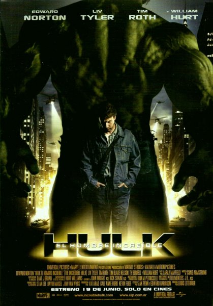 Incredible Hulk, The poster