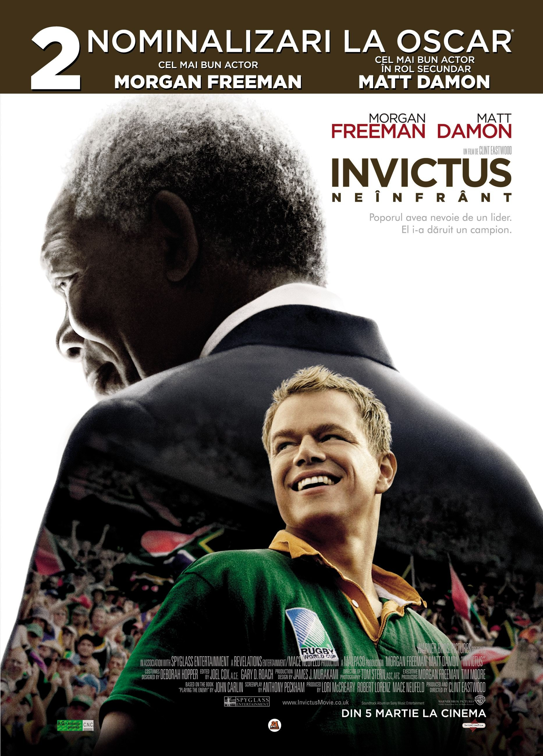 invictus movie Though the story is set in south africa, clint eastwood's invictus is a hybrid of  classic american forms, the triumphant sports movie and the.