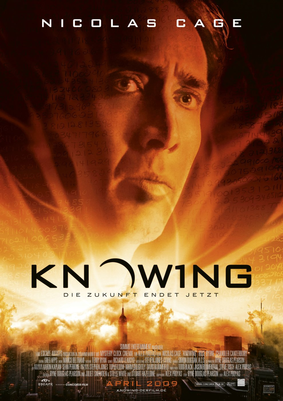 Knowing Movie Knowing (2009) poster ...