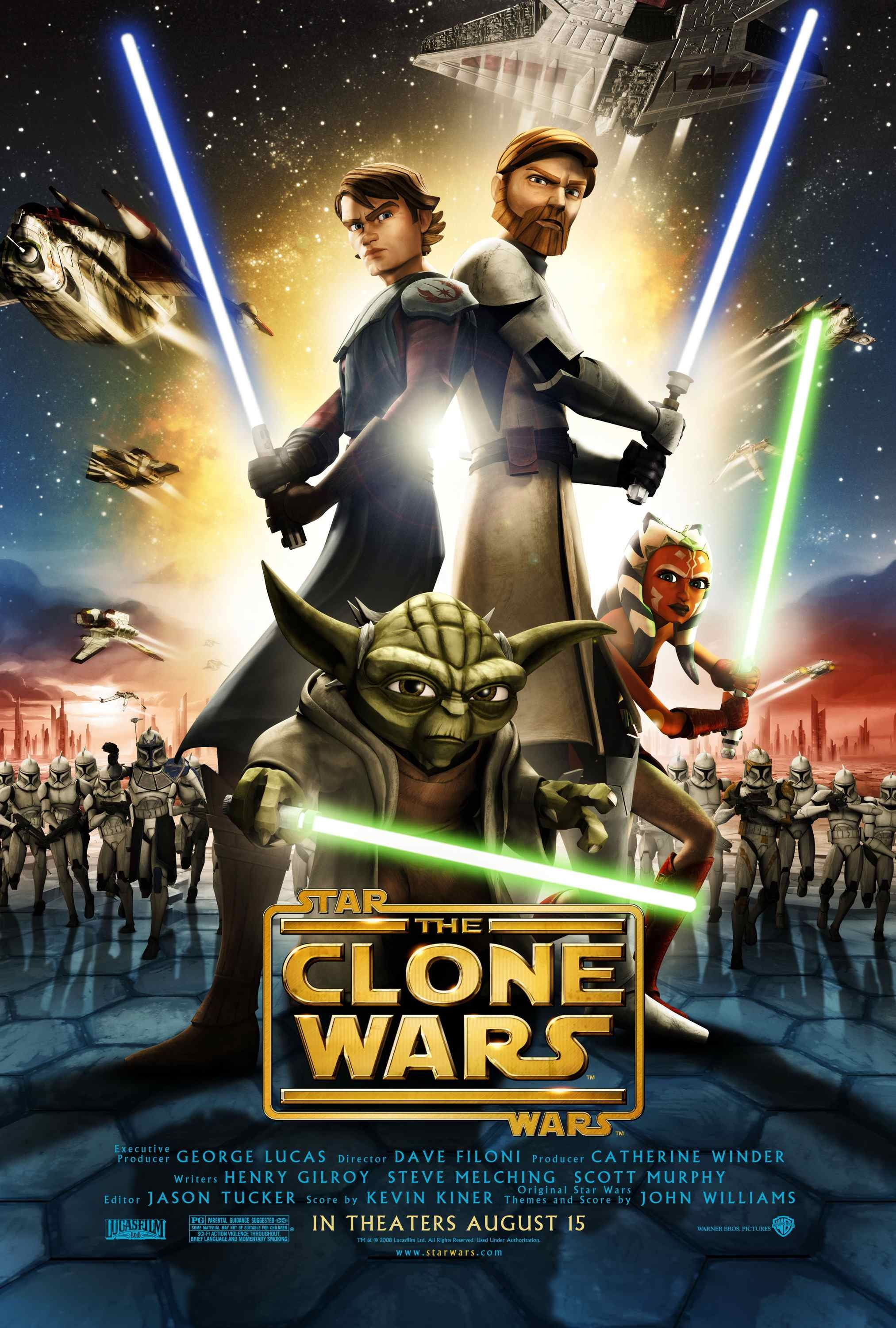 Star wars the clone wars 2008 poster