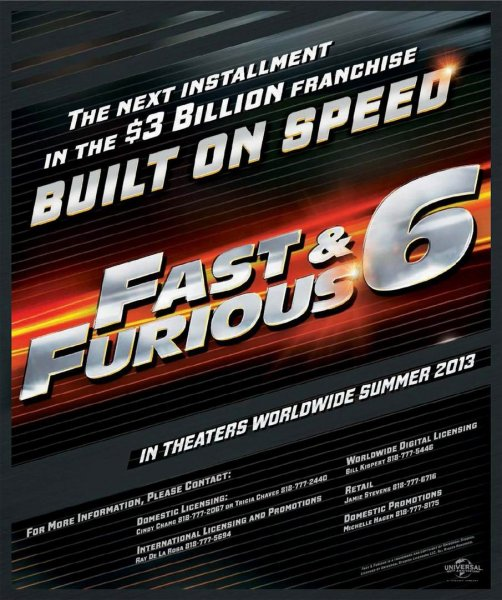 Fast and the Furious 6, The poster