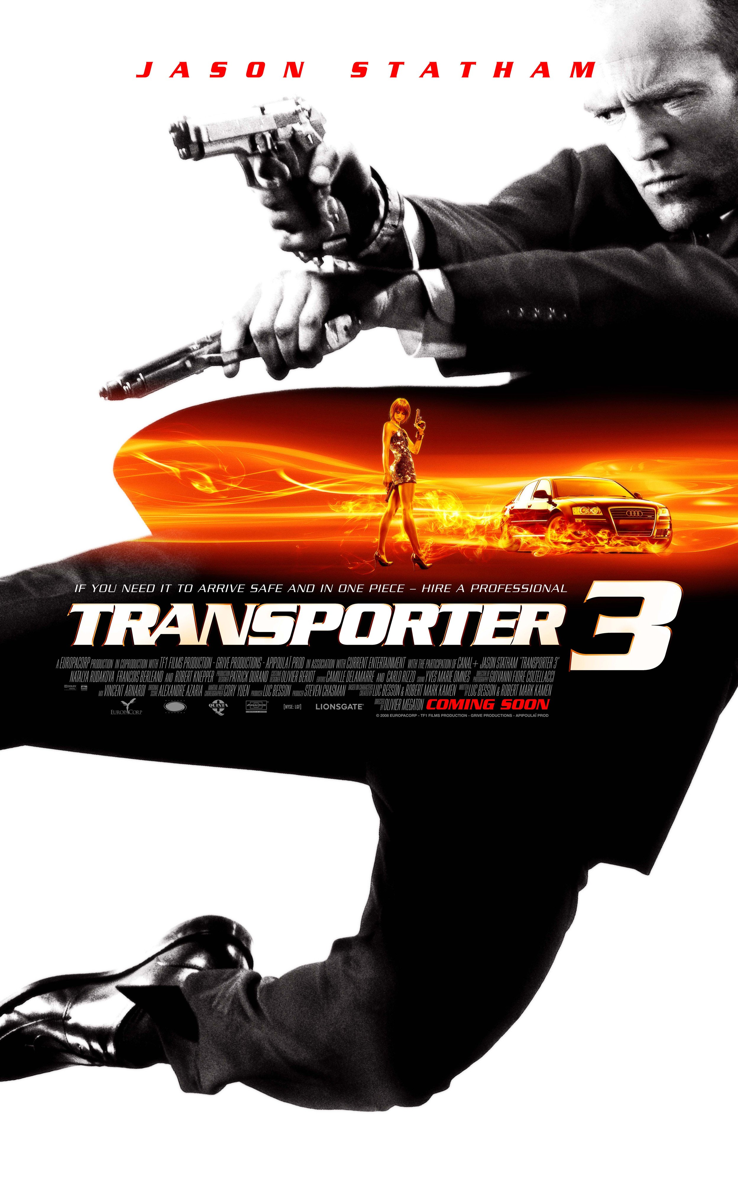 transporter 3 2008 poster. Black Bedroom Furniture Sets. Home Design Ideas