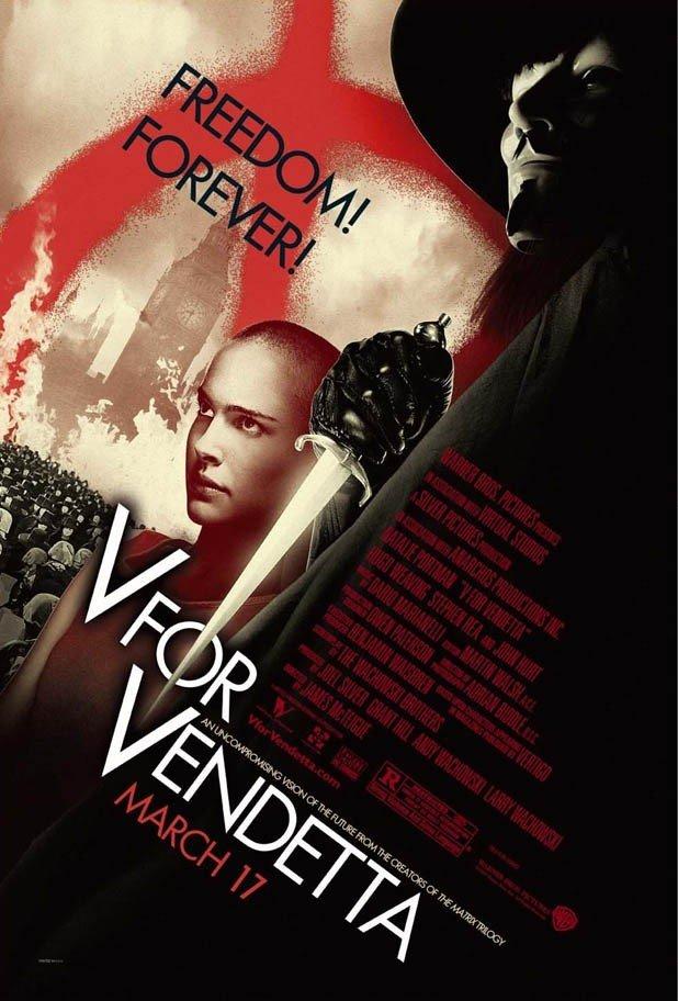 V For Vendetta Movie Poster V for Vendetta (2006) ...