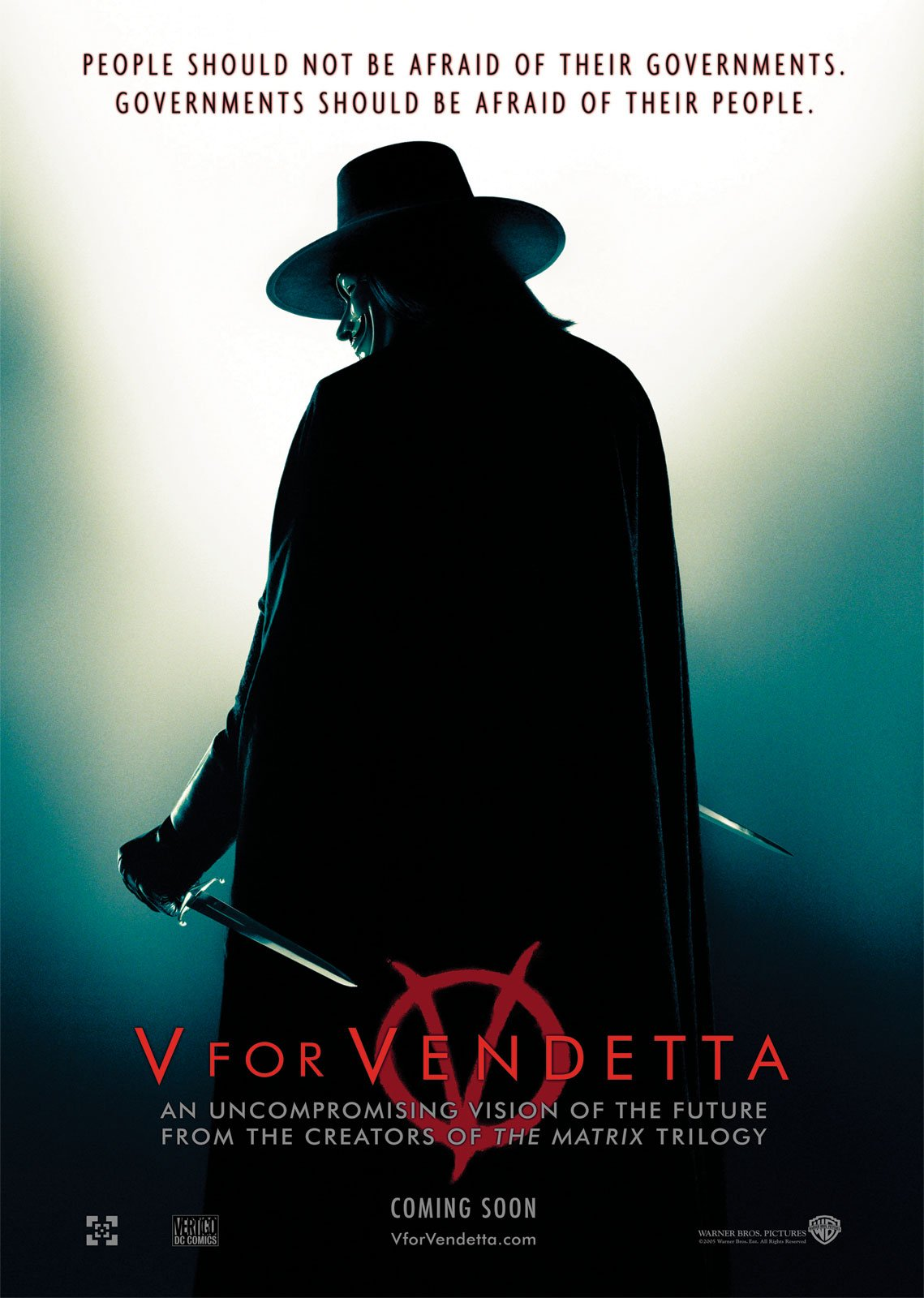 chanting no ...V For Vendetta (2005) Film